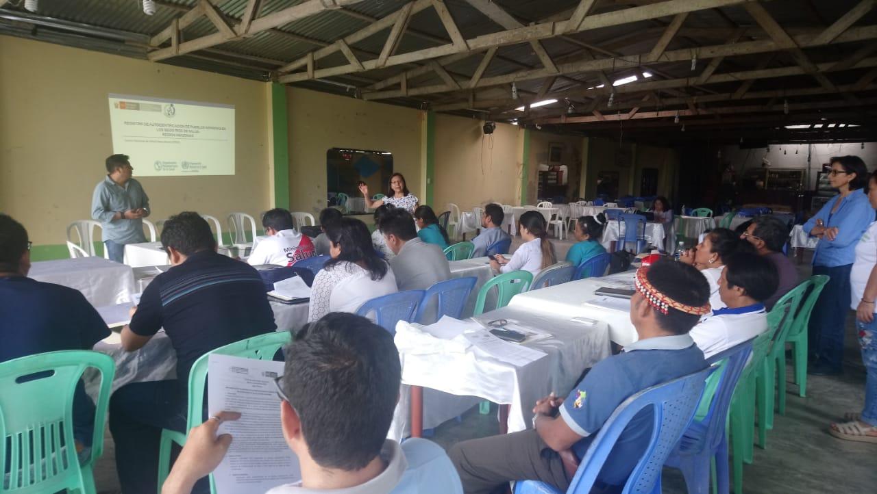 Fortalecimiento de actividades con miras a la autoidentificación étnica en la región Amazonas (Foto: INS)